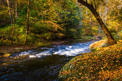 Cascades on the Gunpowder River in Gunpowder Falls State Park, M Royalty Free Stock Image