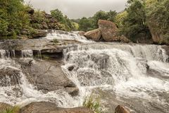 Cascades in the Mahai River in the Kwazulu-Natal Drakensberg. The Cascades in the Mahai River in the Kwazulu-Natal Drakensberg is a popular swimming and picnic Stock Image