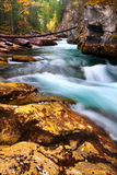 Cascades of Maligne Canyon Canada Stock Image