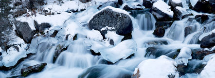 Cascades on a mountain river Royalty Free Stock Photos