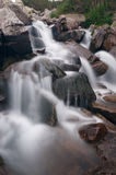 Cascades of Mountain Stream Stock Images