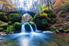 Cascades named Schiessentuempel in Luxembourg Stock Photo