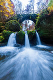Cascades named Schiessentuempel in Luxembourg Royalty Free Stock Photography