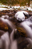 Cascades on Oakland Run, during the winter near the Susquehanna River Stock Photography