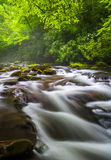 Cascades at the Oconaluftee River Royalty Free Stock Photo