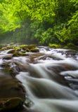 Cascades at the Oconaluftee River Royalty Free Stock Photo