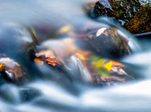 Cascades in Paint Creek. Cascades of the Paint Creek with Autumn leaves Stock Photos