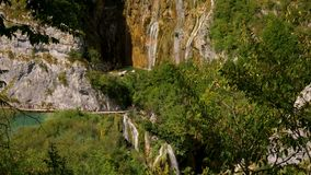 Cascades in Plitvice Lakes National Park.  stock footage