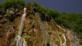 Cascades in Plitvice Lakes National Park.  stock video