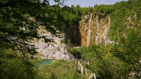 Cascades in Plitvice Lakes National Park.  stock video footage