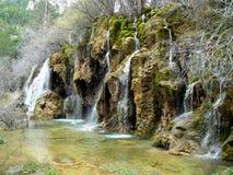 Cascades sur Rio Cuervo Images libres de droits