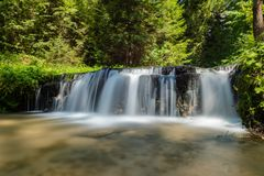 Cascades on Tanew River , Roztocze National Park , Poland.  Royalty Free Stock Photos