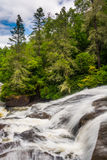 Cascades of Triple Falls, in Dupont State Forest, North Carolin royalty free stock images