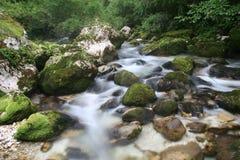 Cascades van rivier Soca Stock Afbeelding