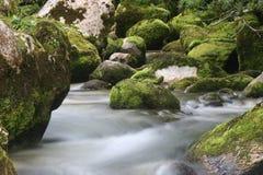 Cascades van rivier Soca Stock Foto's