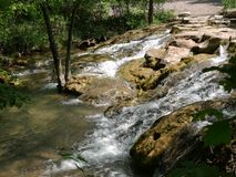 Cascades of water Chickasaw National Recreation Area in Sulphur, Oklahoma Stock Photos