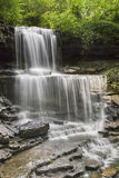 The Cascades at West Milton. West Milton Cascades is an especially beautiful waterfall in Miami County, Ohio Royalty Free Stock Photography