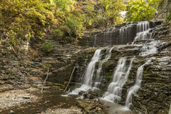 Cascadilla-Schlucht-Wasserfälle Lizenzfreie Stockbilder