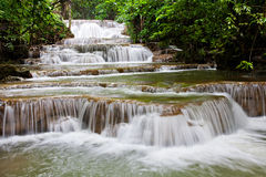 Cascading. This is some of a very famouse houymaekamin water fall in western forest of thailand Stock Image