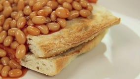 Cascading Baked Beans stock video
