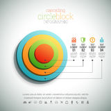 Cascading Circle Block Infographic Stock Photos