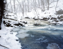 Cascading creek in the winter Stock Image