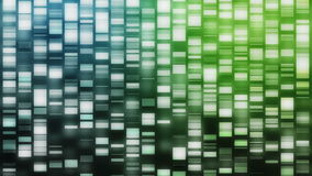 Cascading DNA strands stock video