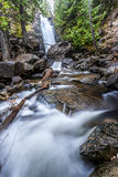 Cascading falls creek falls. The beautiful and easily accessible Falls Creek Falls northeast of Winthrop, Washington Royalty Free Stock Images