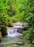 Cascading falls. Deep forest falls in Erawan National Park, Thailand Stock Image