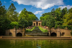 Cascading fountain at Meridian Hill Park, in Washington, DC. Royalty Free Stock Photos