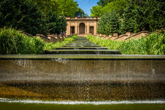 Cascading fountain at Meridian Hill Park, in Washington, DC. stock photo