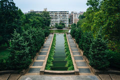 Cascading fountain at Meridian Hill Park, in Washington, DC. stock images