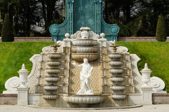 Cascading fountain with statue Royalty Free Stock Image