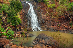 Cascading jungle waterfall Royalty Free Stock Photo