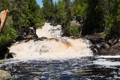 Cascading Manitou River rapids. Cascading Manitou River waterfalls at George H. Crosby Manitou State Park near Finland, Minnesota, USA Royalty Free Stock Image