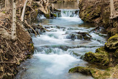 Cascading Mountain Trout Stream Waterfall - Virginia, USA Stock Image