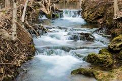 Cascading Mountain Trout Stream Waterfall - Virginia, USA Stock Image