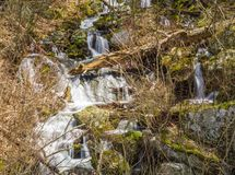 Cascading Mountain Waterfalls in a Boulder Field. Located in Blue Ridge Mountains, George Washington National Forest, Nelson County, Virginia, USA Stock Photography