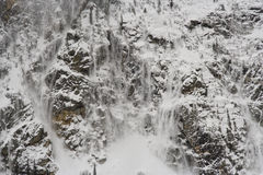 Cascading snow river Stock Images
