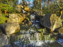 Cascading water fall Stock Photos