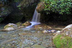 Cascading water falling from a Water Mill Leat Stock Photo