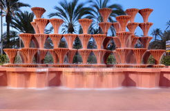 Cascading water fountain in Elche Stock Photography