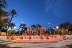 Cascading water fountain in Elche Royalty Free Stock Images