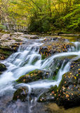 Cascading water, Great Smoky Mountains Royalty Free Stock Photo