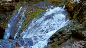 Cascading Water Of Mountain Stream Flowing Down stock footage