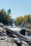 Cascading water over rocks Stock Photos