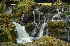 Cascading Water in a Rocky Stream. A view of water cascading down a rocky stream in southern Wisconsin Royalty Free Stock Photography