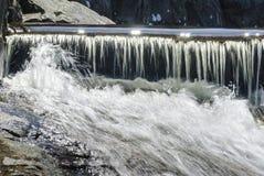 Cascading water running into turbulence Stock Photo
