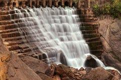 Cascading waterfall stock photo