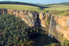 Cascading Waterfall. Image of the Berlin waterfall in South Africa Royalty Free Stock Photos